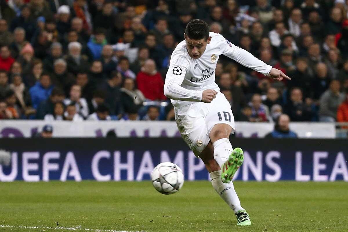 James es jugador del Real Madrid