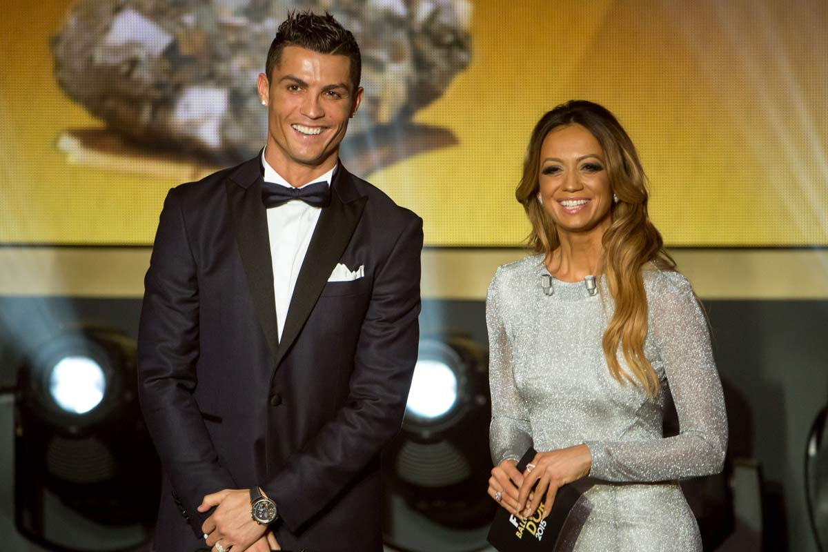 Kate Abdo y Cristiano Ronaldo