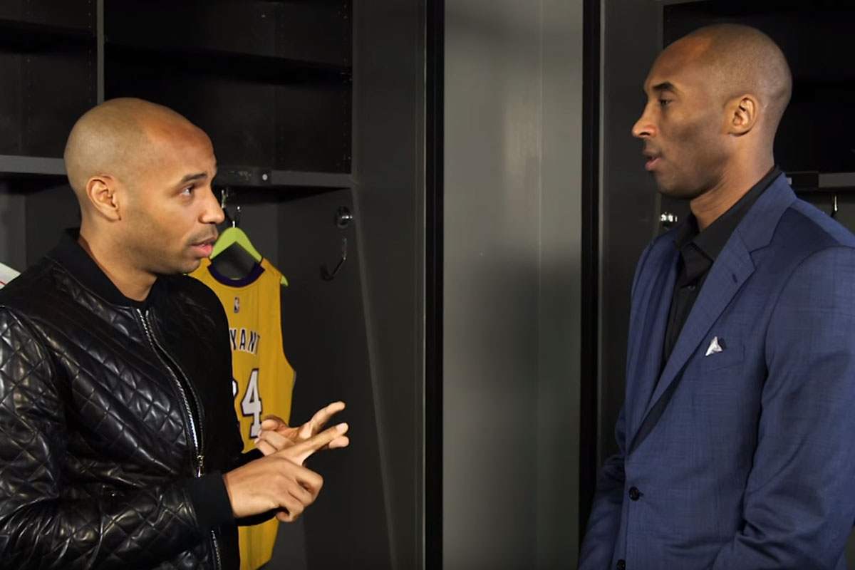 Kobe Bryant y Thierry Henry