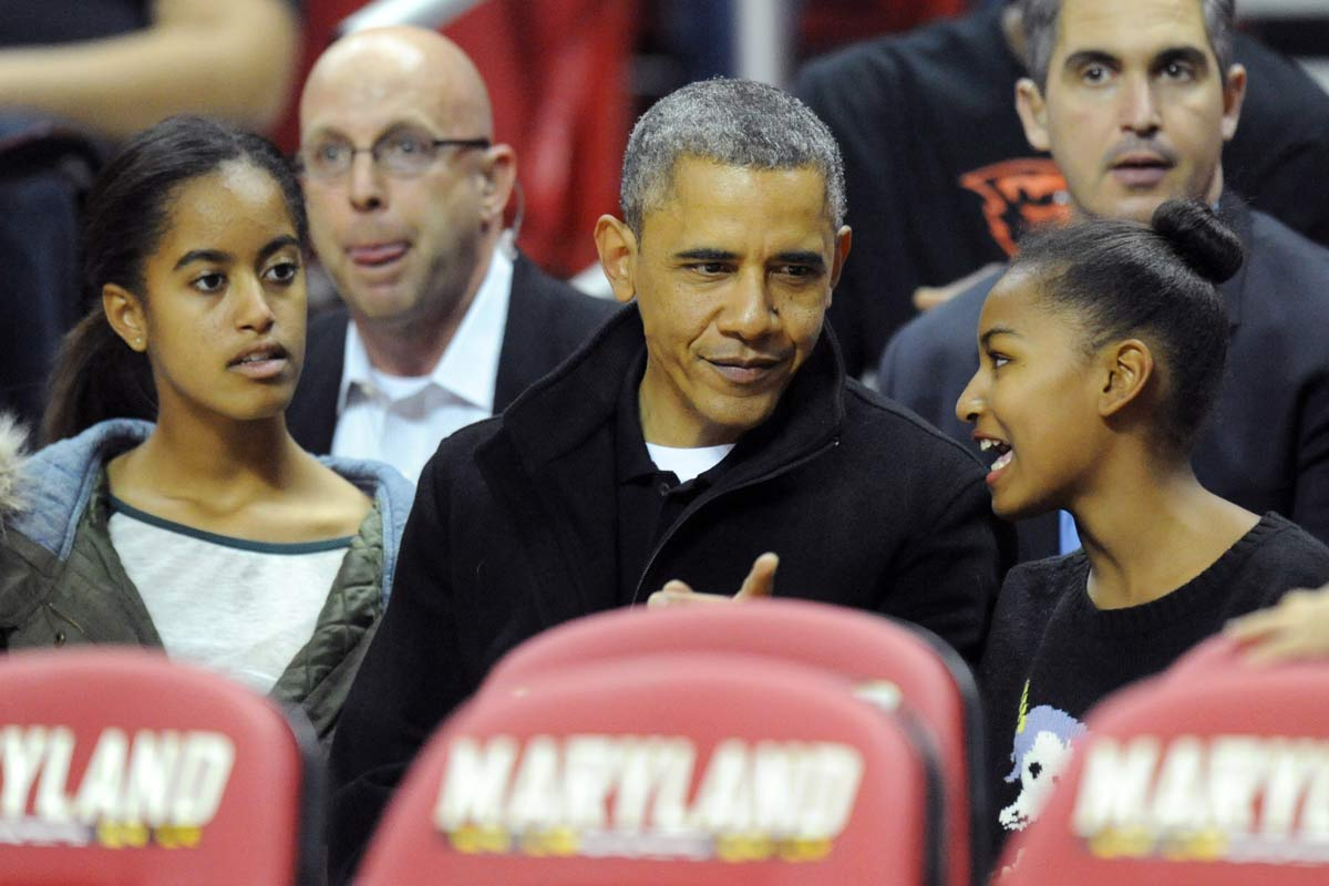 Barack Obama y sus hijas