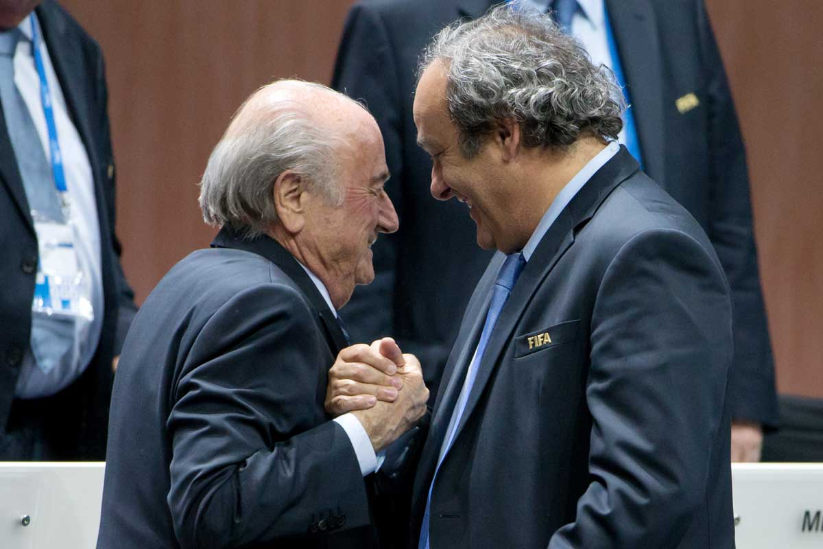 Platini y Blatter están sancionados