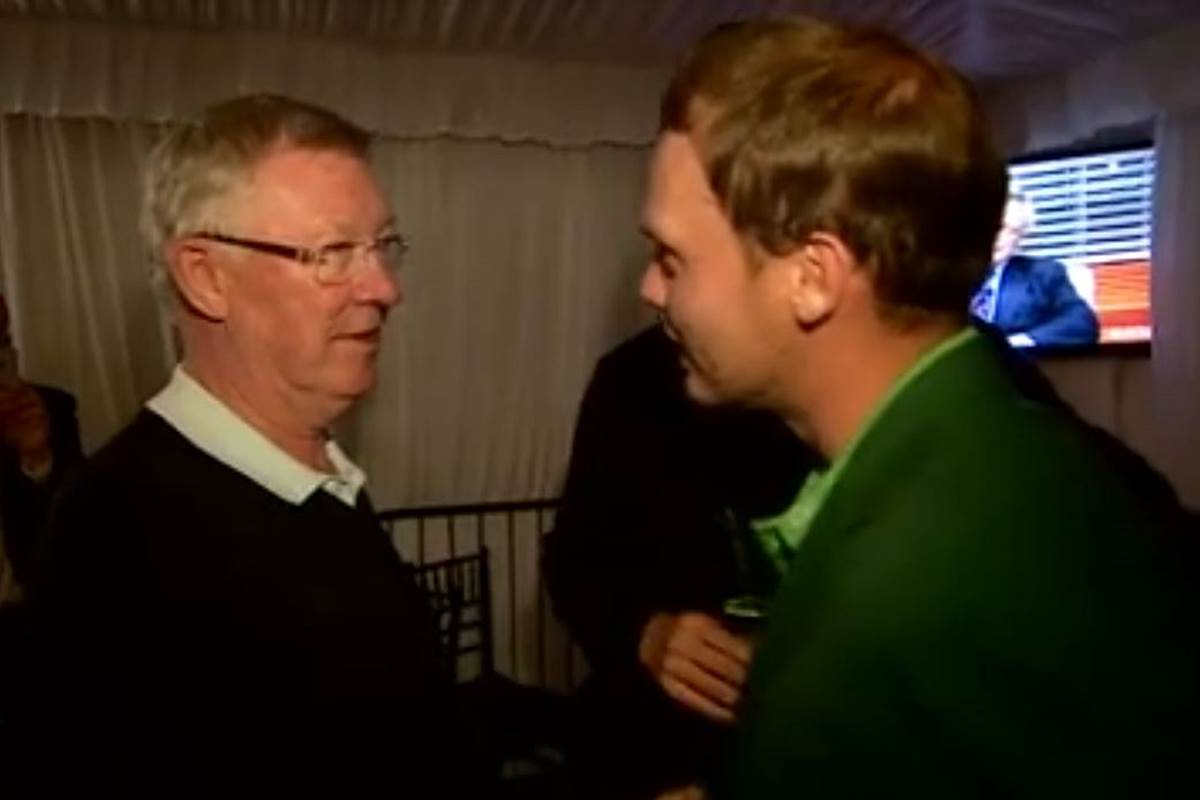 Alex Ferguson le dice a Danny Willett que apostó por Spieth
