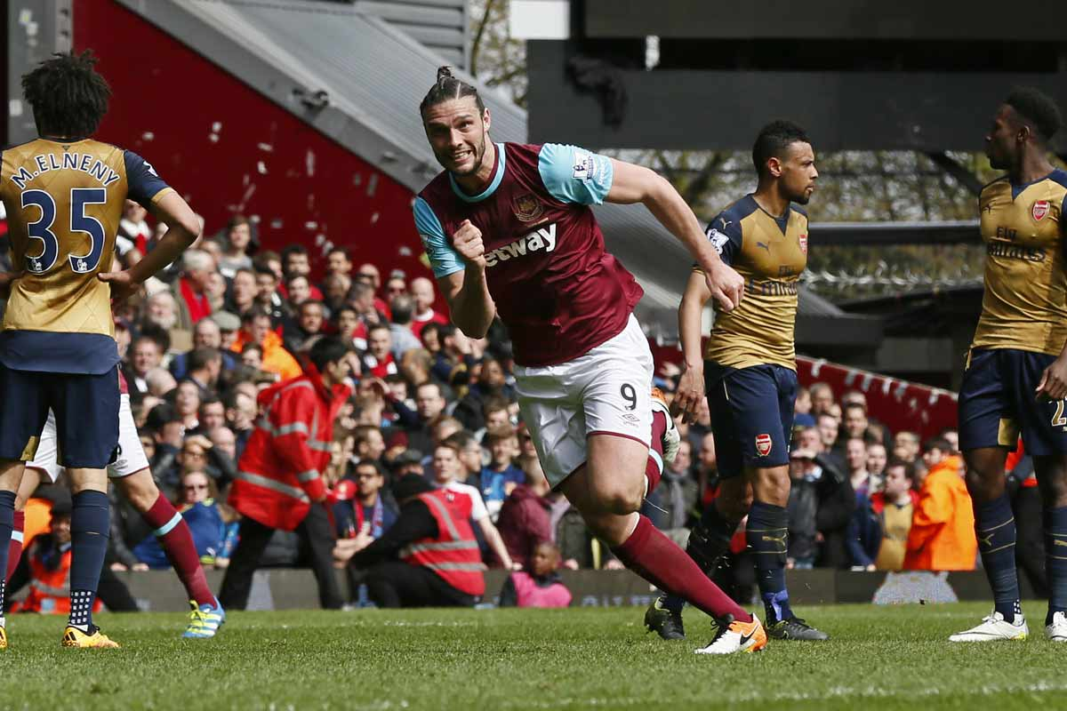 Andy Carroll, del West Ham