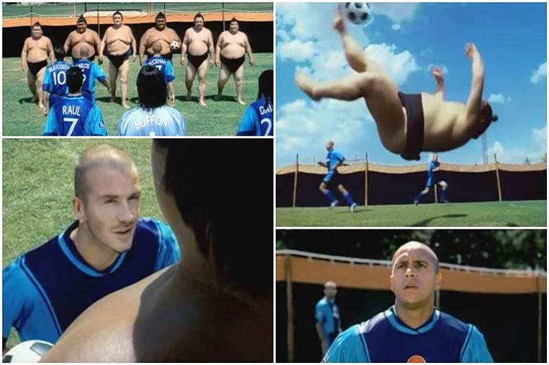 """Anuncio Pepsi """"Sumo"""" contra futbolistas como Roberto Carlos, Raúl, Beckham..."""