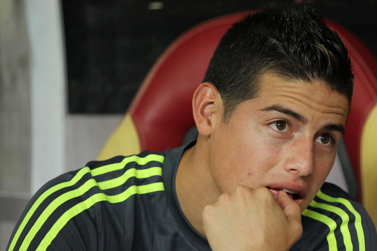 James Rodriguez, de nuevo sin jugar en el Real Madrid