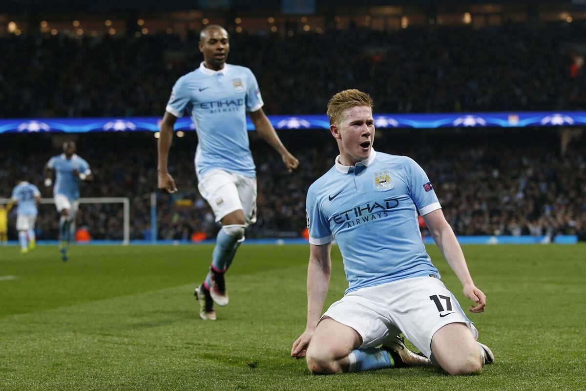 Raheem Sterling y Kevin de Bruyne, del Manchester City
