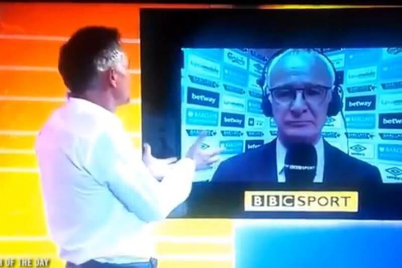 Lineker entrevista a Ranieri por la Champions del Leicester