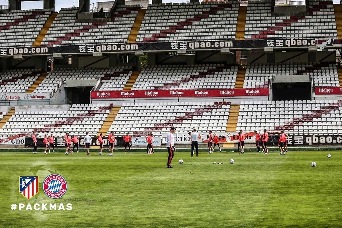 Bayern entrena en Vallecas