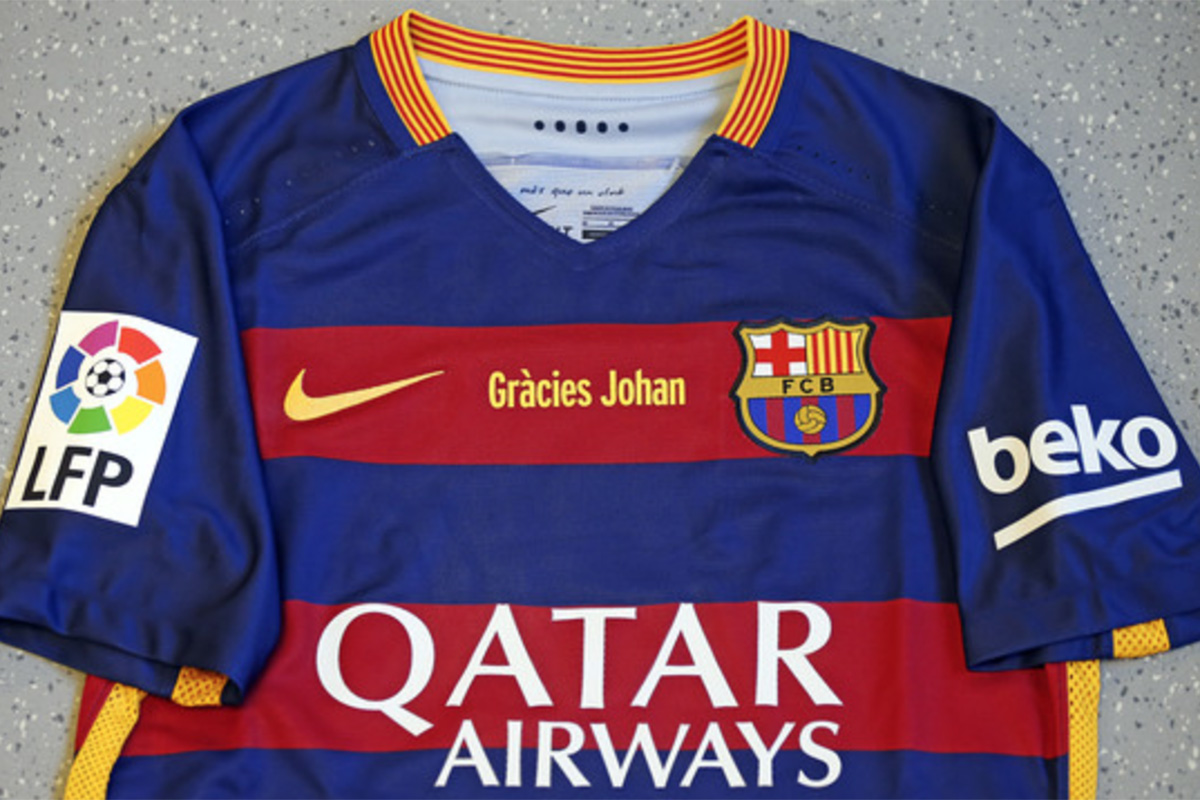 Camiseta que lucirá el Barça en el Clásico