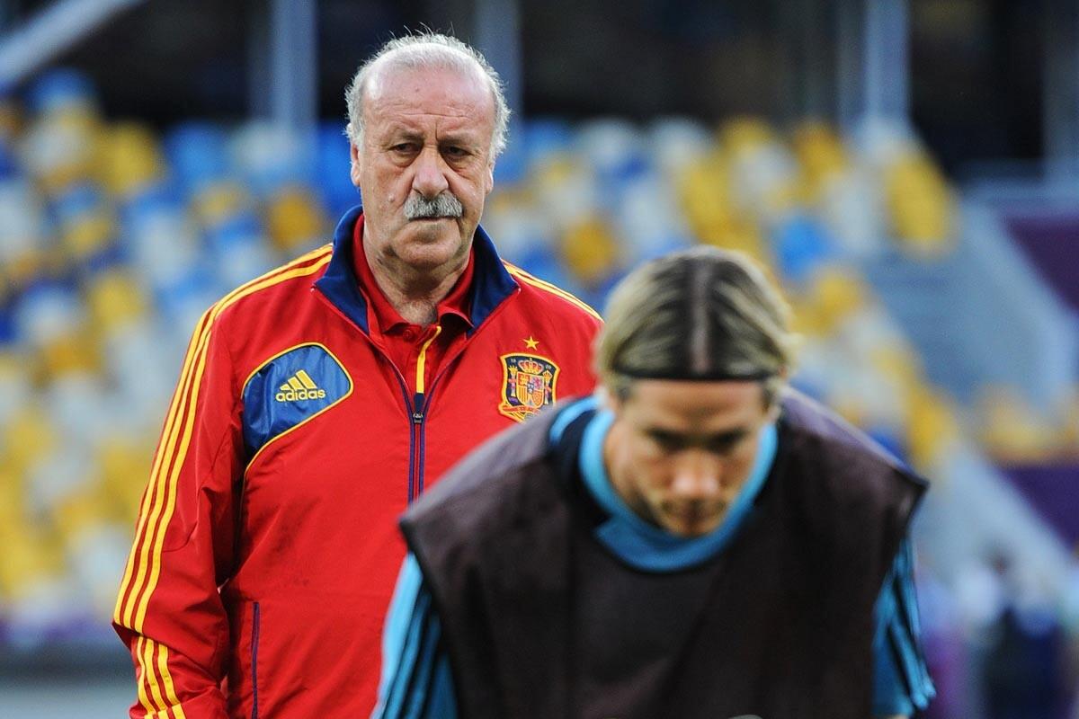 Vicente del Bosque y Fernando Torres