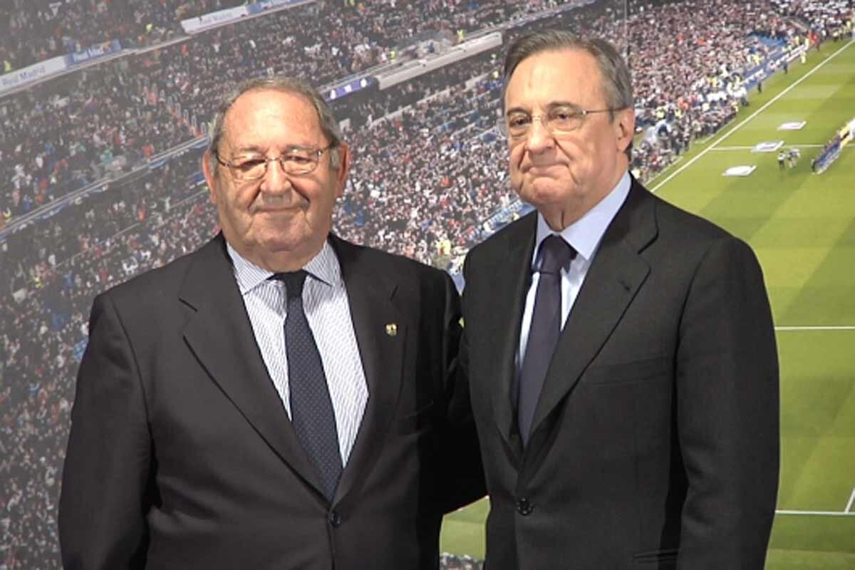 Florentino y Gento en el Bernabéu