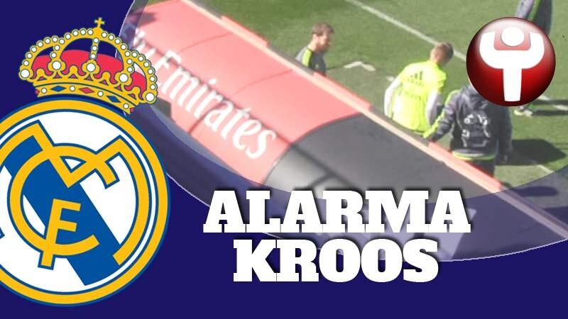 Toni Kroos en el entrenamiento
