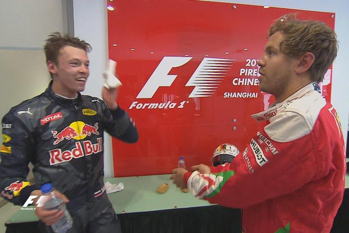 Kvyat y Vettel