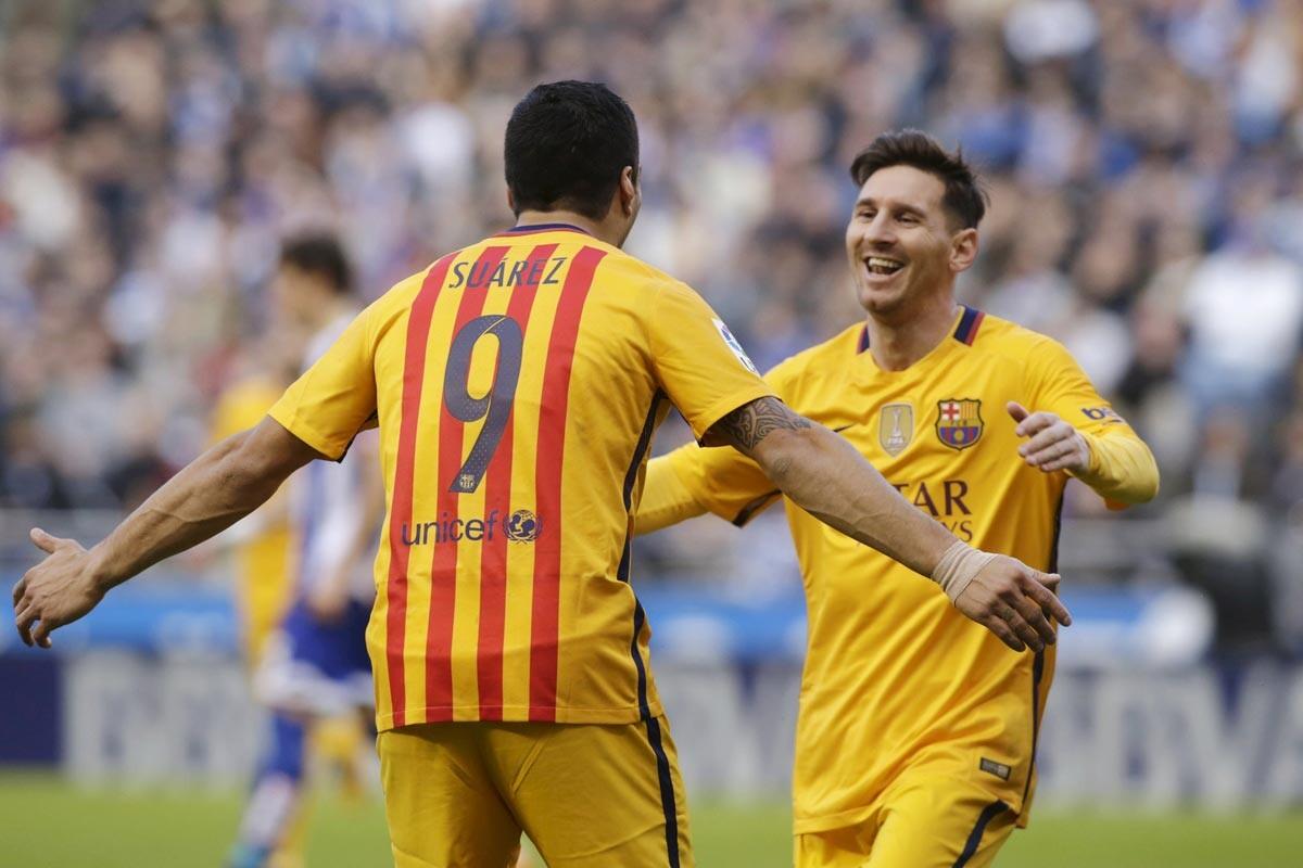 Leo Messi y Luis Suárez
