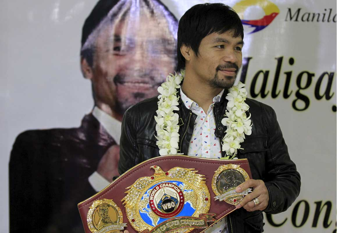 Pacquiao es boxeador