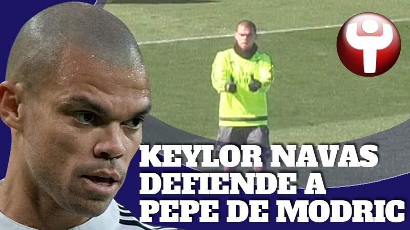 Pepe en un entrenamiento