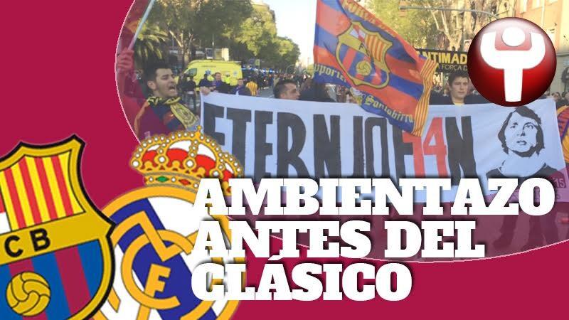Ambientazo para recibir al Barça antes del Clásico