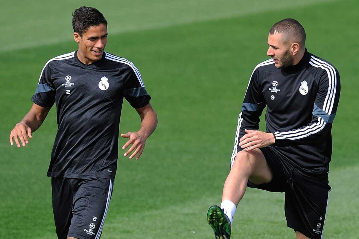 Raphael Varane y Karim Benzema
