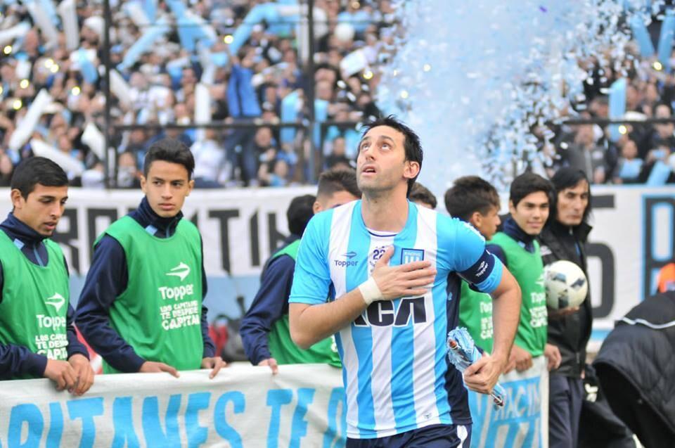 Diego Milito en su despedida