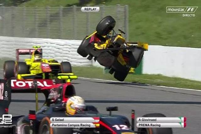 Giovanazzi accidente Montmelo