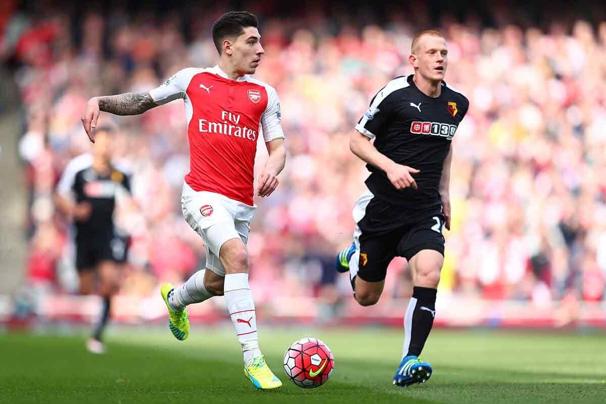Hector Bellerin, con el Arsenal