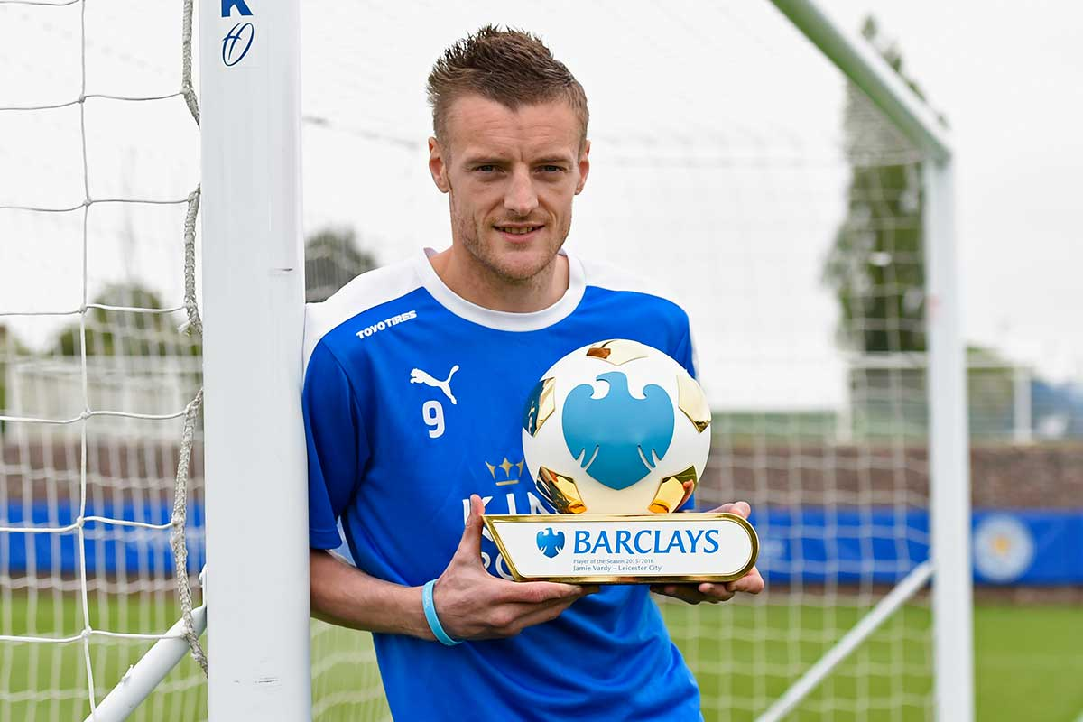 Jamie Vardy, del Leicester City