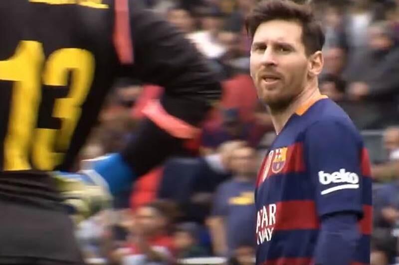 Messi insulta portero espanyol