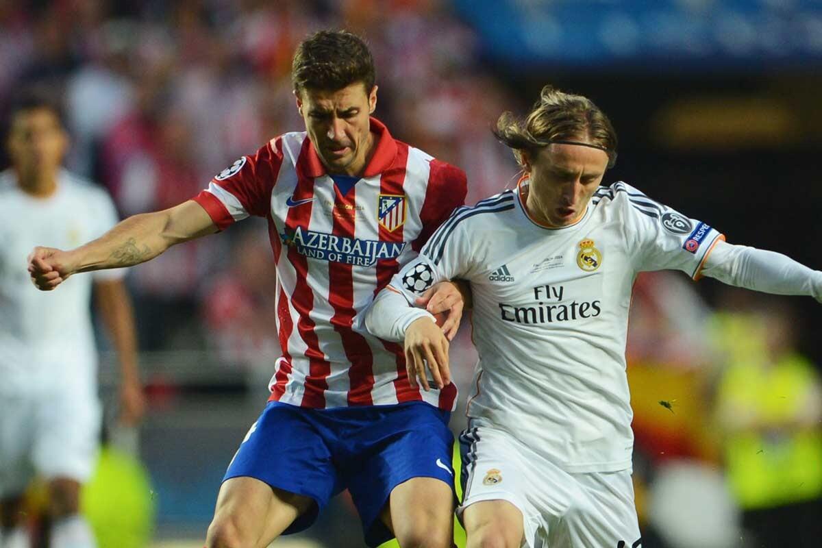 Modric y Gabi en la final de Lisboa