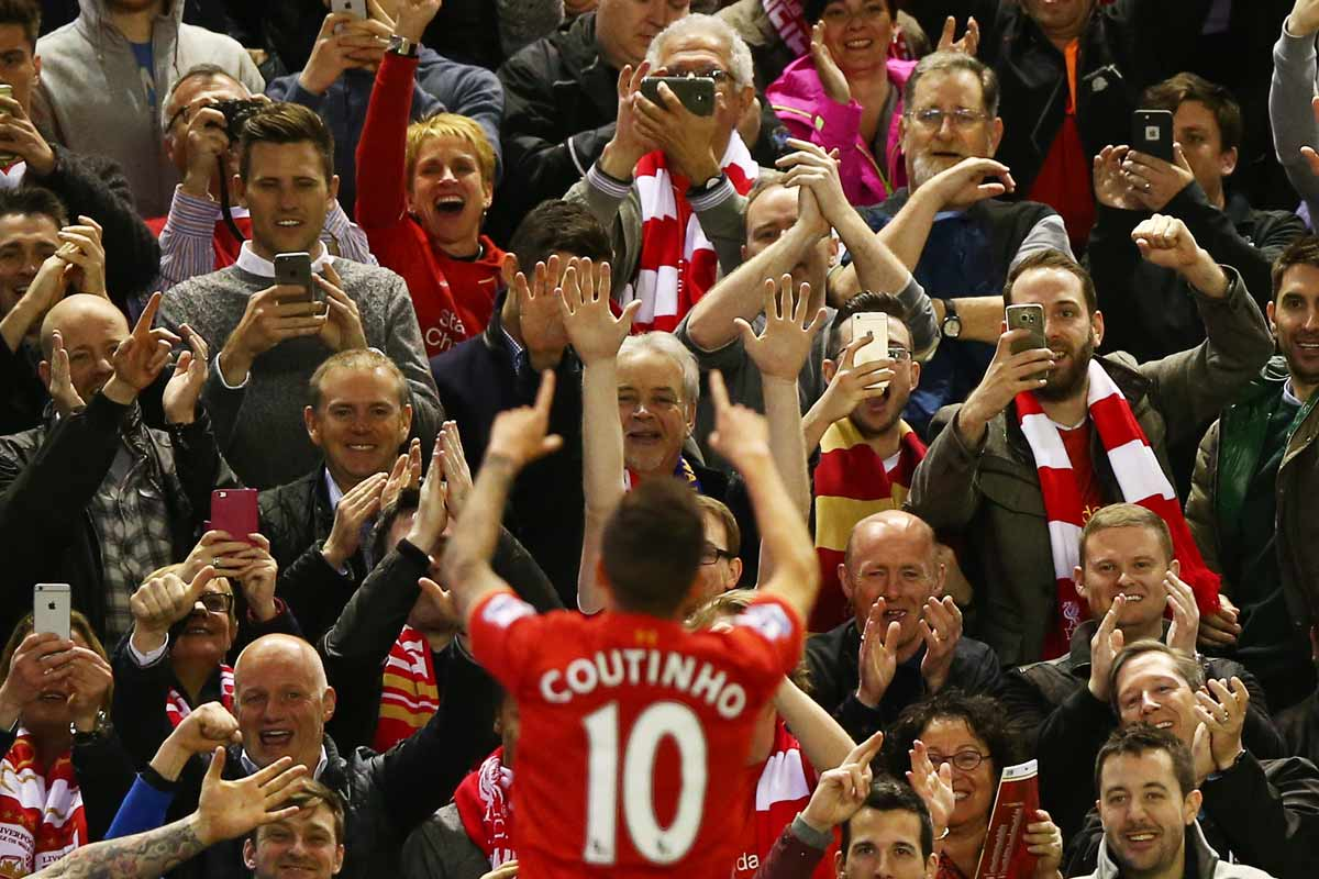 Philippe Coutinho, jugador del Liverpool