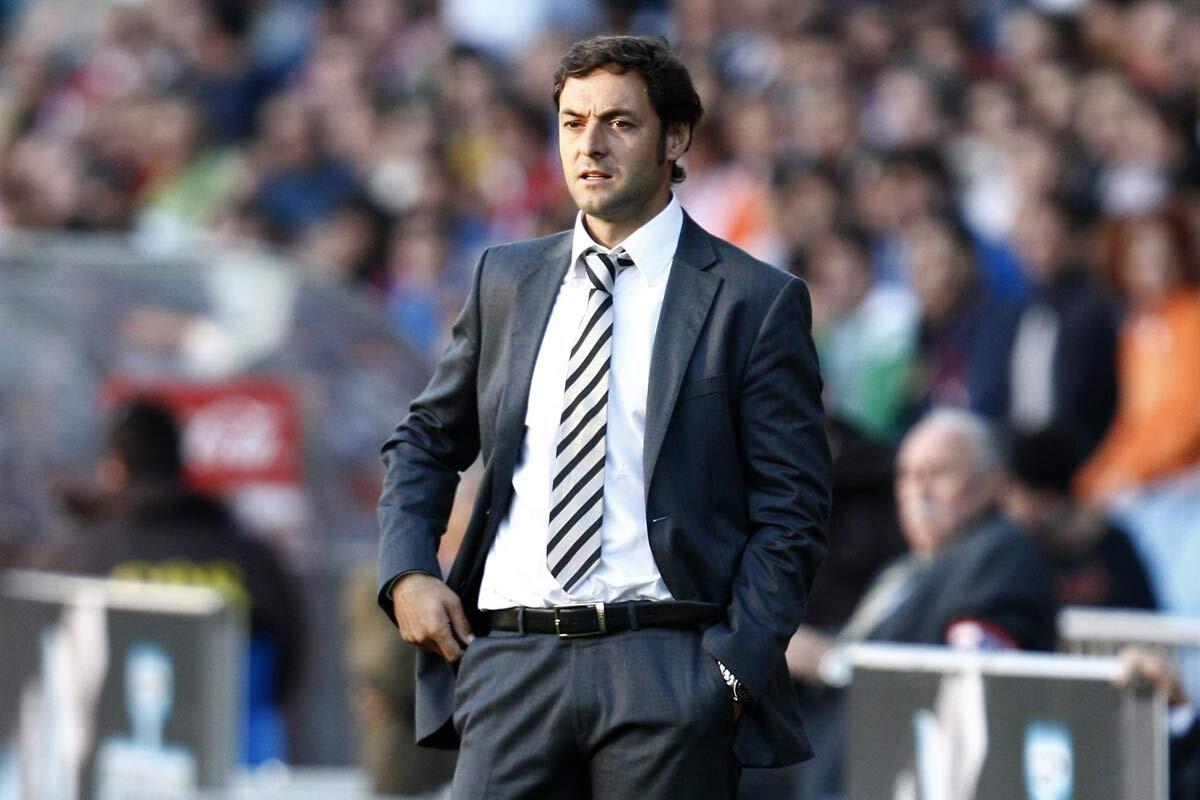 Santi Denia, entrenador de la selección de España sub 17