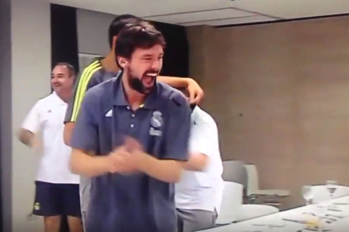 El Real Madrid de baloncesto celebra la Undécima