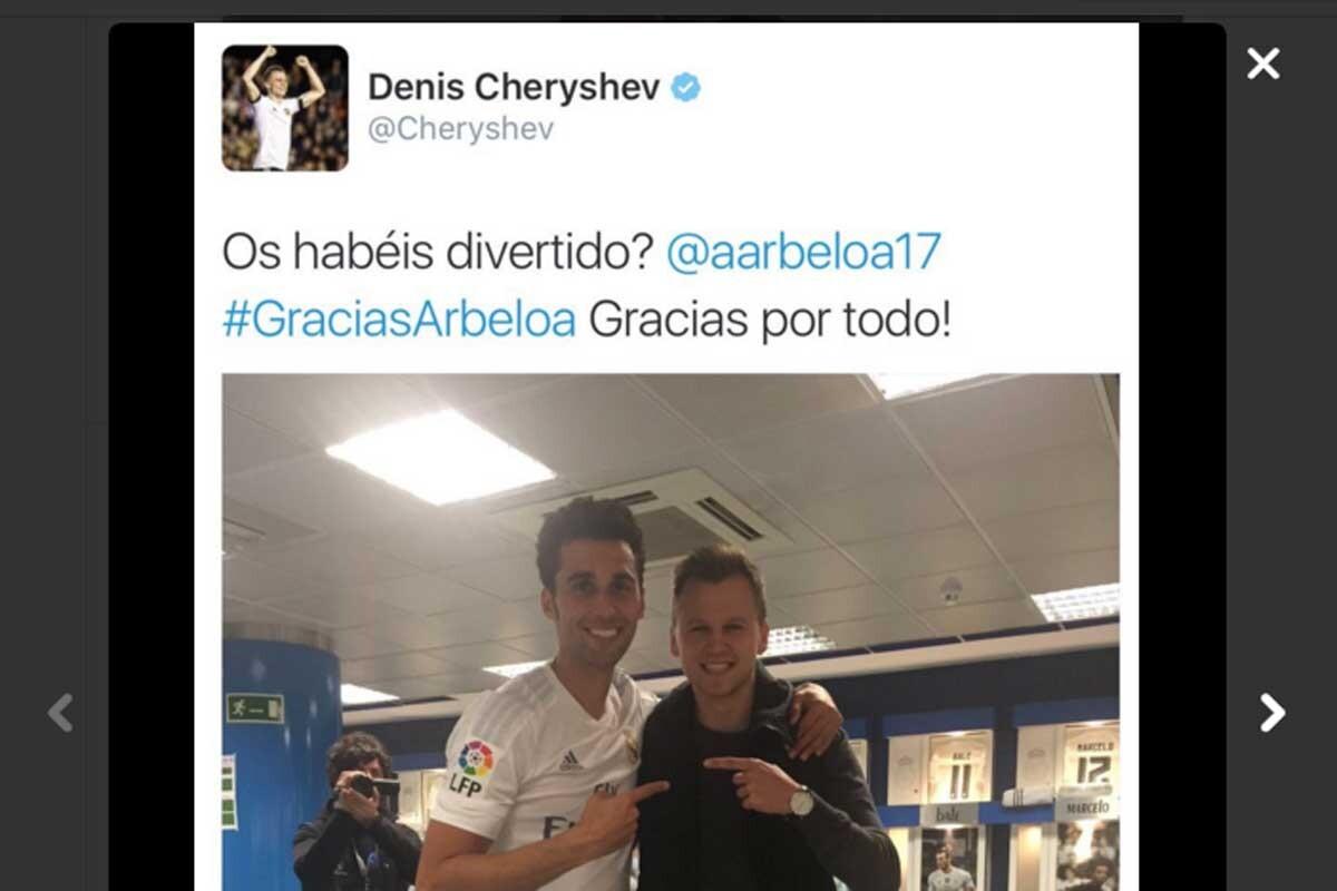 Cheryshev es jugador del Real Madrid cedido al Valencia