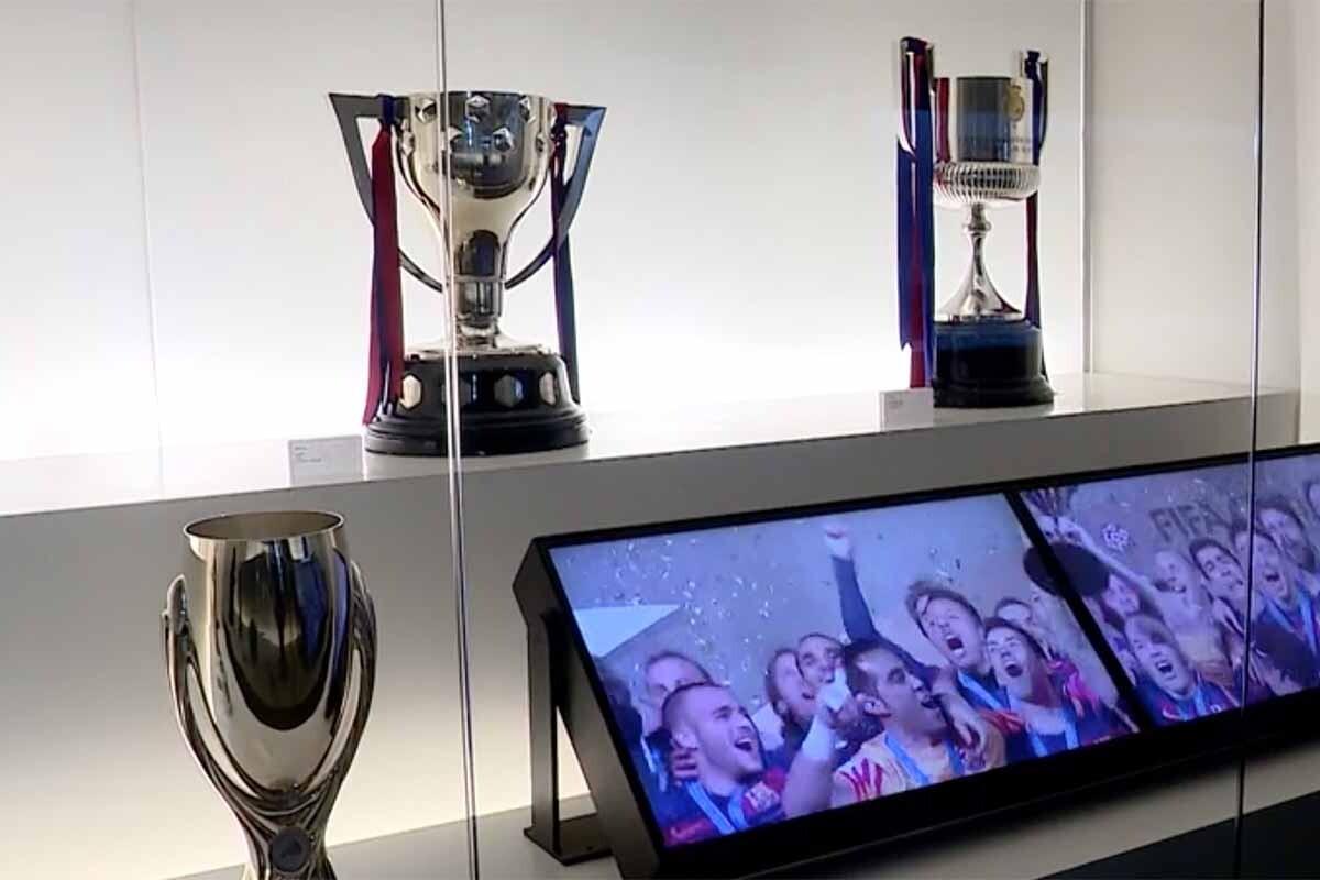 El Barça ya ha expuesto las copas