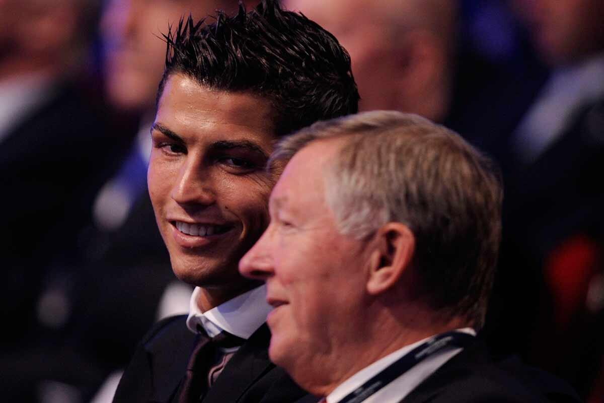 Ferguson y Cristiano Ronaldo