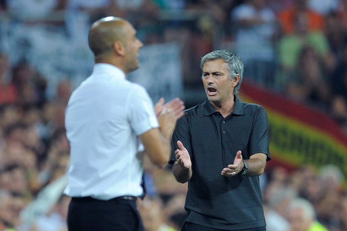 Pep Guardiola y José Mourinho