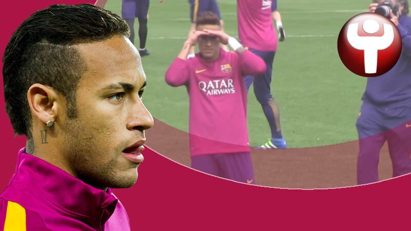 neymar entrenamiento buscando wally