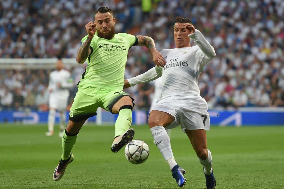 Otamendi y Cristiano Ronaldo