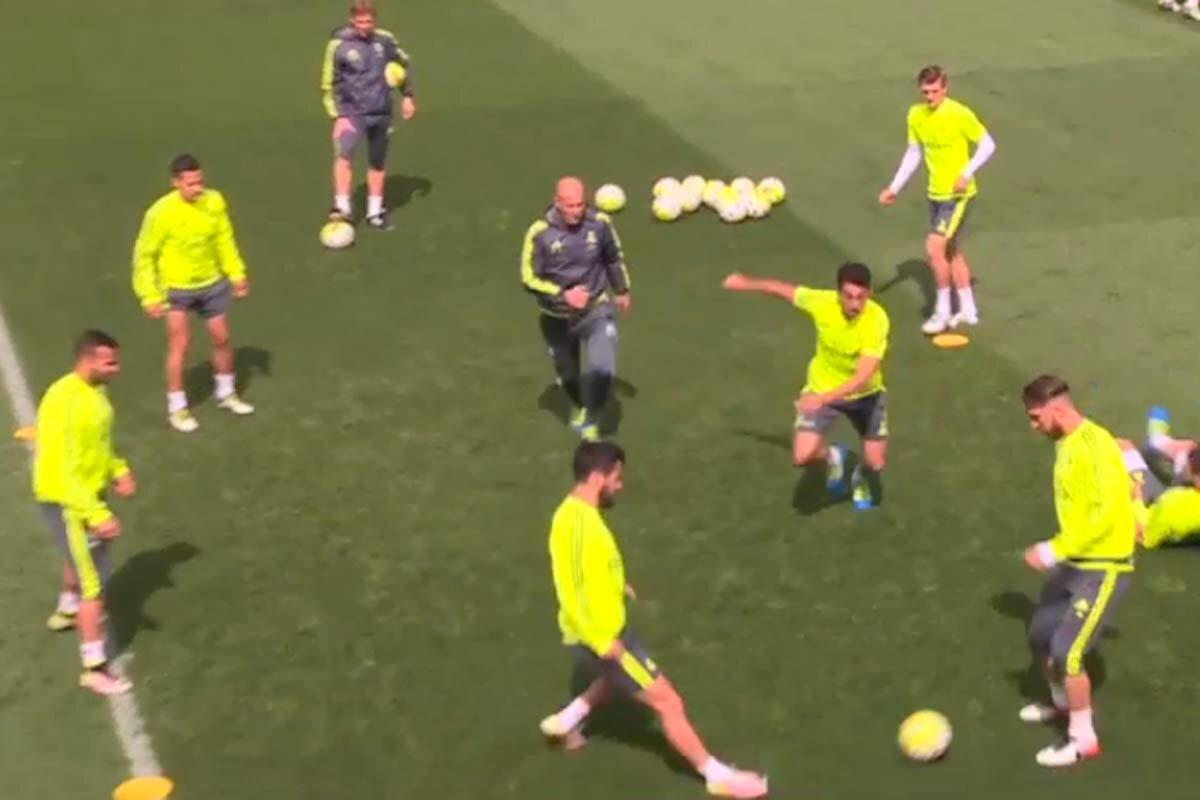 Zidane en un rondo