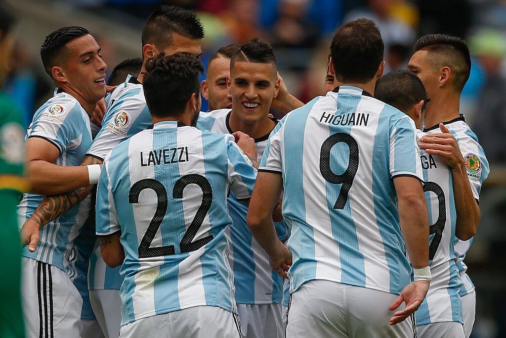 Argentina celebra ante Bolivia