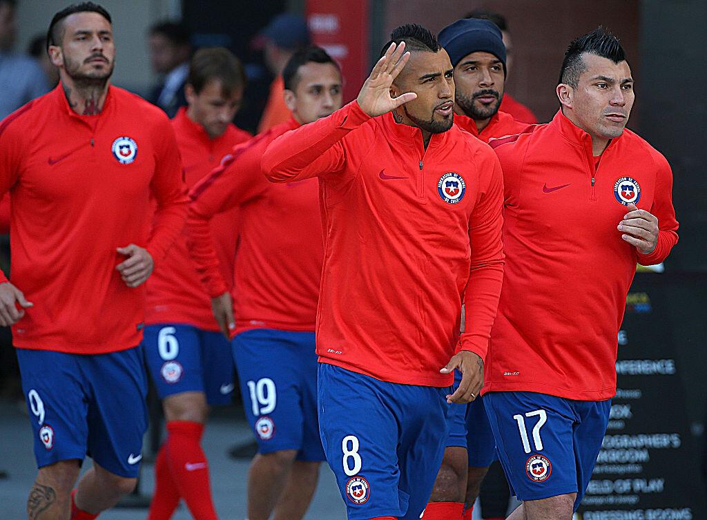 Arturo Vidal con Chile en la Copa América
