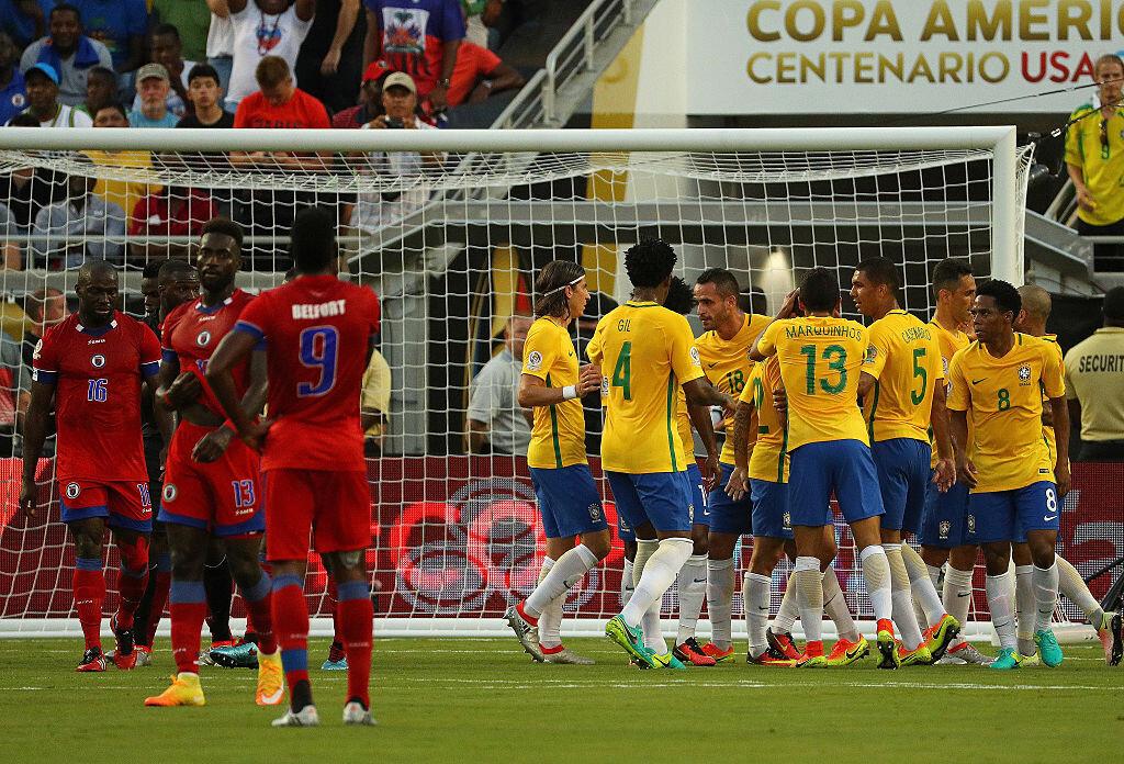 Brasil goleó a Haití