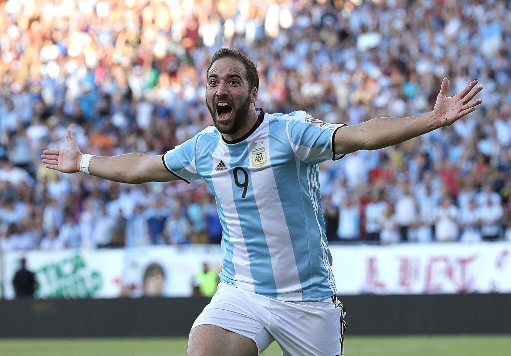 Gonzalo Higuaín con Argentina en la Copa América