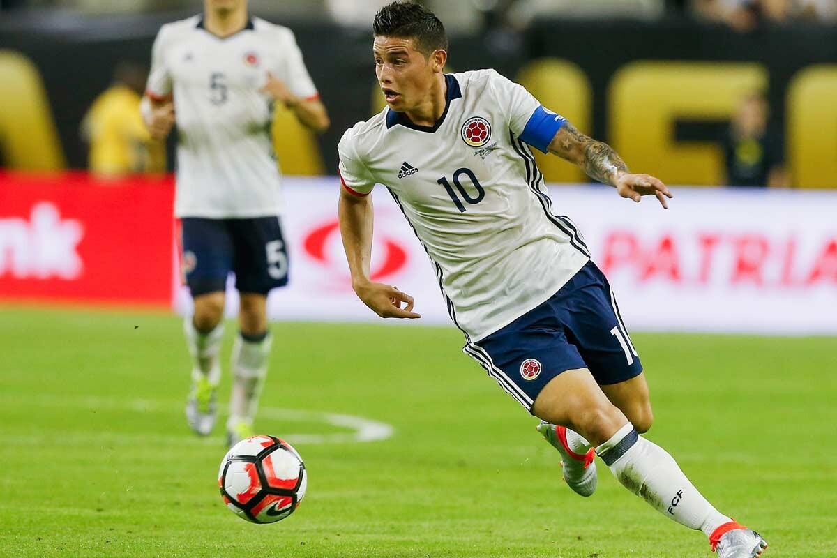 James Rodriguez, con la selección Colombia