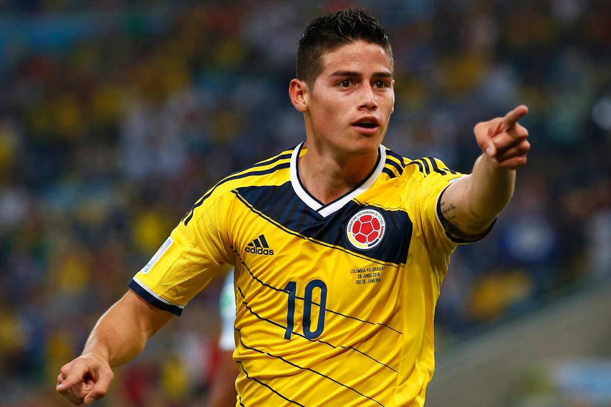 James Rodriguez, con Colombia