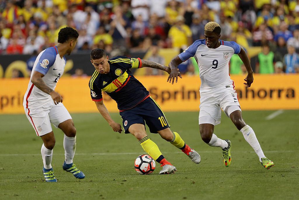 James con Colombia en Copa América Centenario