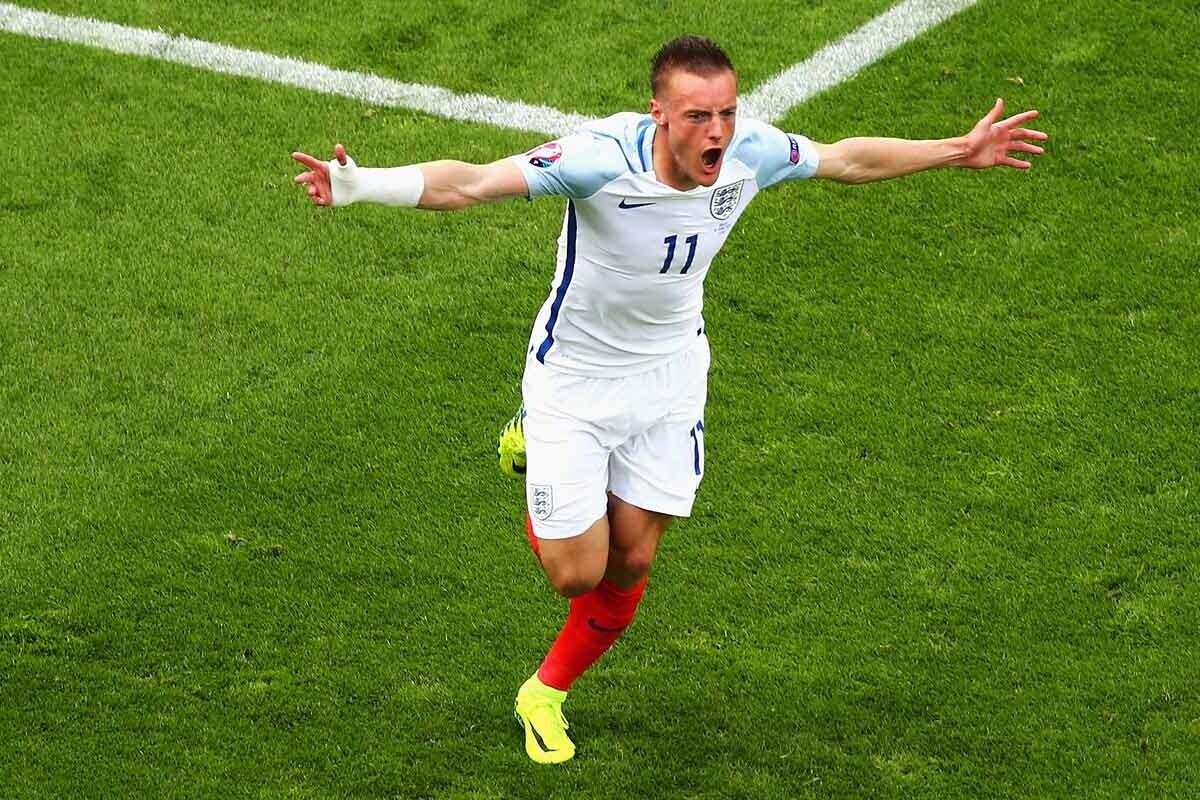 Jamie Vardy, con Inglaterra