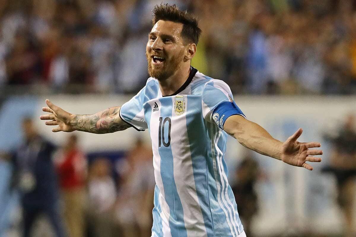 Leo Messi, con Argentina en la Copa América Centenario