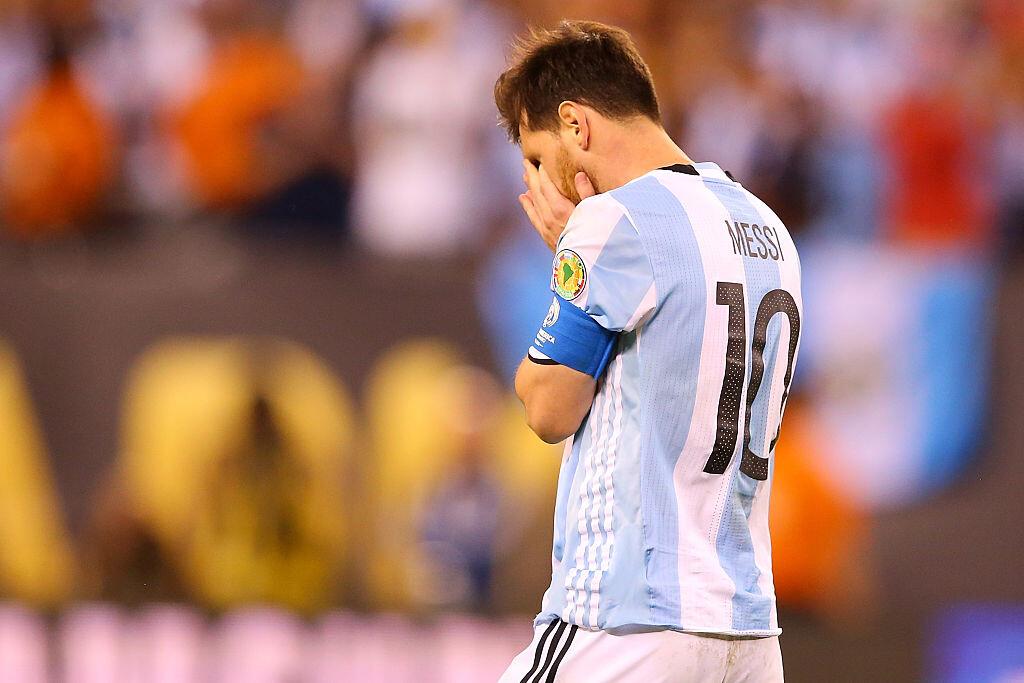 Messi tras perder la final contra Chile