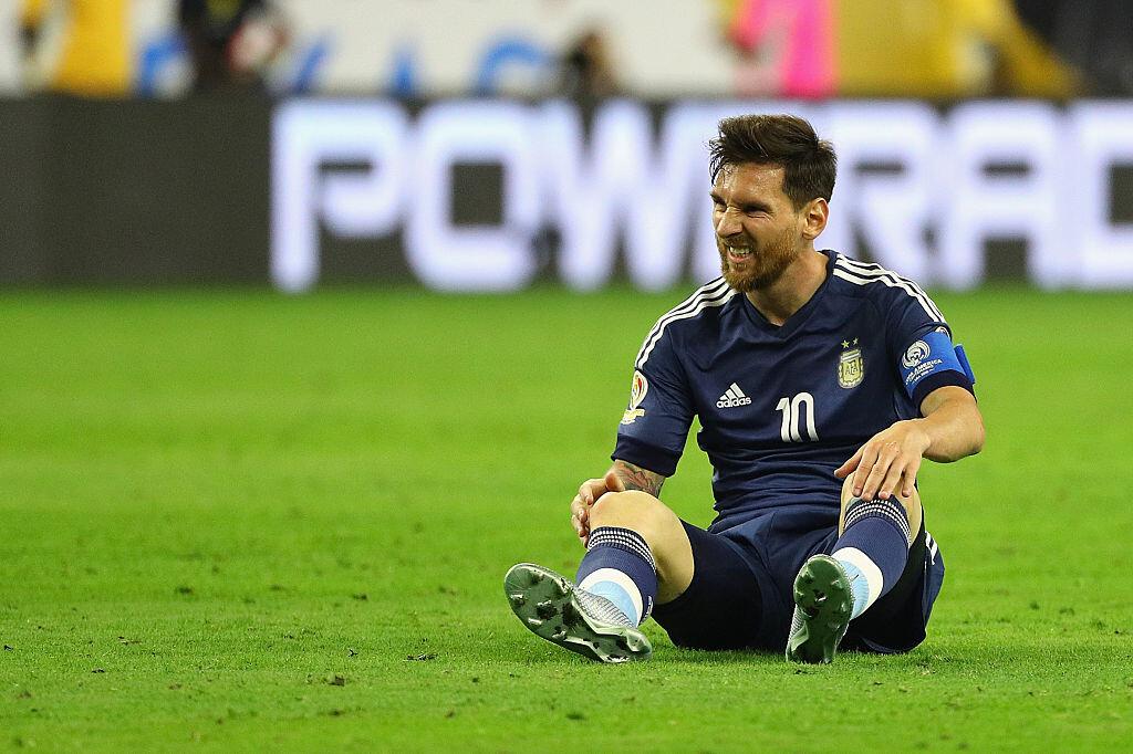 Messi en el partido frente a Estados Unidos