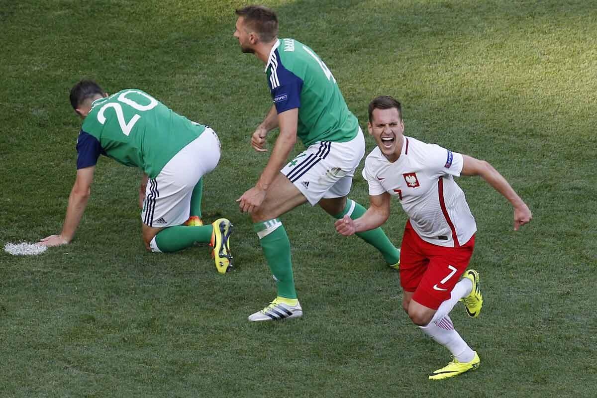 Polonia le ha ganado a Irlanda del Norte en la Euro 2016
